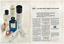 Publicité Advertising 1970 (2 pages) Cosmétique Produit de beauté ROC