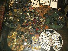 great grandmas antique button collectionlot