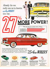 Vintage 1954 Magazine Ad Aero Willys Why You Step Out In Front With A Willys