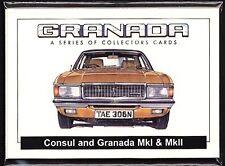 FORD GRANADA - Original Collectors Card Set - MkI & MkII Consul Ghia Sapphire X