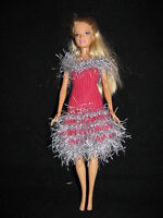 robe poupée barbie faite main brittany handmade new fashion barbie doll dress