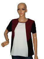 NEW Women Ladies multicolour patchwork blouse top Size 8, 10, 12, 14, 16, 18