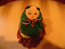 Vintage Asian Hand Crafted Soft Christmas Ornament NICE