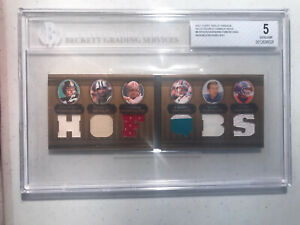2007 Topps Triple Threads 2/27 Unitas/Marino/Montana/Elway Patch Booklet BGS 5