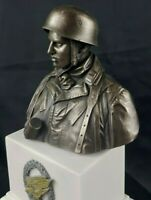 German Paratrooper Fallschirmjager FJR 6 Normandy 1944   . Cold Cast Bronze Bust