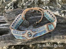 Ocean Blue - Handmade Boho Bracelet - surfer  vegan handmade pura vida