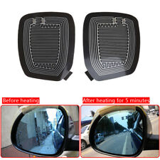 2* Universal Quick Warm 12V Car Side Mirror Glass Heater Heated Defogger Pad Mat