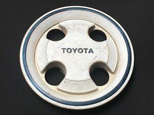 Toyota Corolla Tercel OEM Wheel Center Cap White Finish Blue Edge 6139 1983-1985