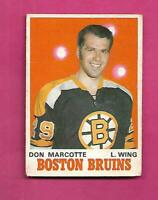 1970-71 OPC # 138 BRUINS DON MARCOTTE  ROOKIE VG CARD (INV# D2772)