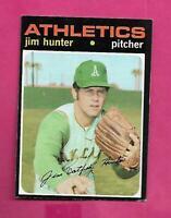 1971 TOPPS # 45 ATHLETICS JIM HUNTER GOOD CARD (INV# C8675)