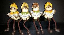 Harvest / Thanksgiving / Fall Bird Shelf Sitter Set of 4 Decor - Transpac J7627