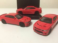 2016 DODGE HELLCAT CHARGER Greenlight Muscle Car Lot (3) New 1:64th Diecast