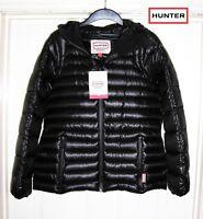 NEW Hunter Original Hooded Down Jacket Coat Black Womens Ladies 14 RRP £299
