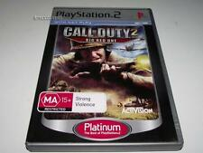 Call of Duty 2 Big Red One PS2 (Platinum) PAL *No Manual*