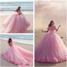 Neu Rosa Prinzessin Hochzeitskleid Ballkleid Brautkleider Gr. 32 34 36 38 40 42+