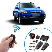 Car Alarm Protection Security 1-Way Burglar Keyless Entry Siren 2 Remote Control