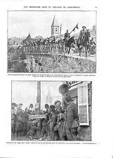 WWI Bataille de Saint-Mihiel Soldat Cavalry Sammies US Army Nonsard ILLUSTRATION