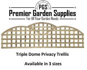 Premier Privacy Triple Dome Topped Trellis Lattice Art Deco Garden Fence 2 3 4ft