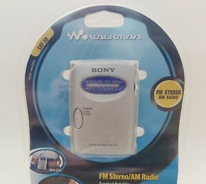 New SONY SRF-59 WALKMAN FM / AM Stereo w Headphones - 2001, FACTORY SEALED