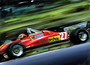 Gilles Villeneuve Ferrari 126 C2 Zolder 1982 F1 Race Car CANVAS Art Print Poster