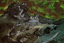 Beetling Rock, Garn Fawr, Pembrokeshire, John Piper print in 10 x 12 inch mount