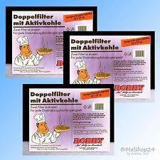 3 Aktivkohle-Filter Fettfilter Kohlefilter universal Dunstabzugshaube Dunsthaube