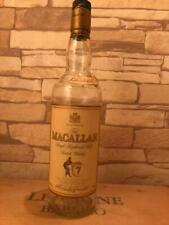 Vintage Old Type Empty Macallan 7 Years Whiskey Bottle From Japan Rare