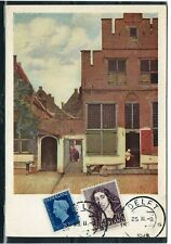 NETHERLANDS = 1948 Used PPC to AURORA, ILL. `DELFT` cancel.