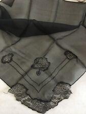 Black Vintage Handkerchief