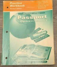 Passport to Algebra and Geometry Teacher's Edition (Practice Workbook)
