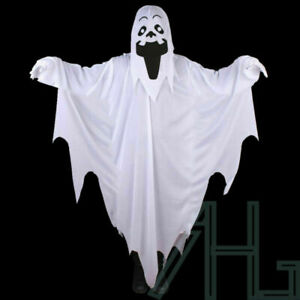 Halloween White Sheet Scary Ghost Costume Child Adult Party Fancy Dress Outfit