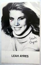 LEAH AYRES Autographed 3 x 5 PHOTO Postcard 80s ACTRESS Edge Of NIGHT BLOODSPORT