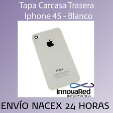 Tapa Carcasa Trasera Apple para Iphone 4S Blanco