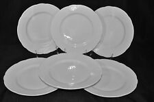 "Richard Ginori Rilievo Bianco White Round Salad Plate 8.65"" Set/6 New"