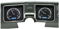 Dakota Digital 68 El Camino Chevelle Analog Gauge Kit Black Blue VHX-68C-CVL-K-B