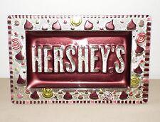 BEAUTIFUL LARGE HERSHEY'S KISSES GLASS TRAY PLATE LORI SIEBERT FREE SHIPPING