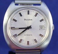 Bulova 1972 vintage Swiss 17J automatic ss watch with new matched stretch band