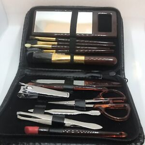 Vintage Manicure Make Up GROOMING Set 13 Tools