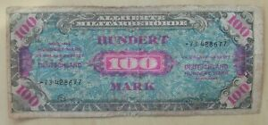 Germany banknote 100 mark dated 1944 allied military