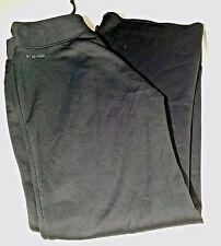 Columbia Workout Pants Size M Black Draw String Zipped Pocket on Side Stretch