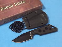 """ROUGH RIDER RR1813 Neck Knife Black G10 handle full tang blade 4 1/2"""" overall"""