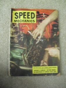Vintage April - May 1955 Speed Mechanics Cars Automotive Magazine
