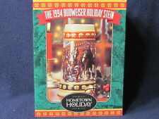 1994 Anheuser-Busch Holiday ceramic Stein Hometown Holiday Clydesdale