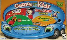 Legoland Crayola Rugrats All Growed-Up Monopoly Jr - 4 NEW PC Games Free Ship !
