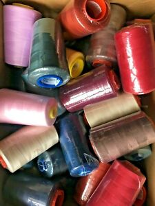 CLEARANCE 5000yd Polyester Thread Cones ~ PICK N MIX ~ Overlocker 120