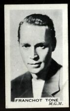 Tobacco Card, Premier, STAGE & SCREEN PERSONALITIES, 1936, Franchot Tone, #61