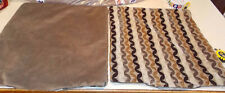 Pair of Brown Beige Abstract Decorative Print Throw Pillows 20 x 20
