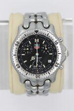 Tag Heuer Watch Mens SEL CG1110 Mint Crystal Link S/EL Chronograph Silver Black