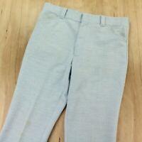 vtg 70s double knit polyester bootcut leisure pants 34 x 29 disco scovill usa