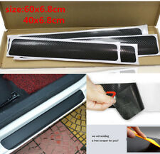 NEW 4Pcs 4D Carbon Fiber Car Accessories Door Sill Scuff Protector Stickers Tool